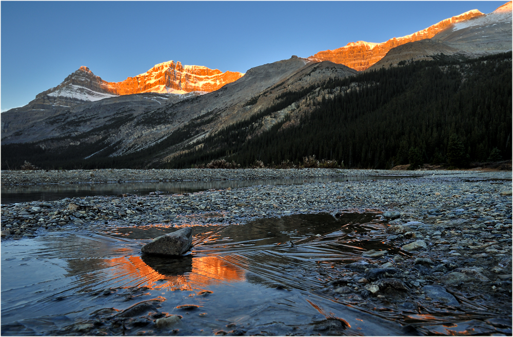 Morgens am Bow Lake