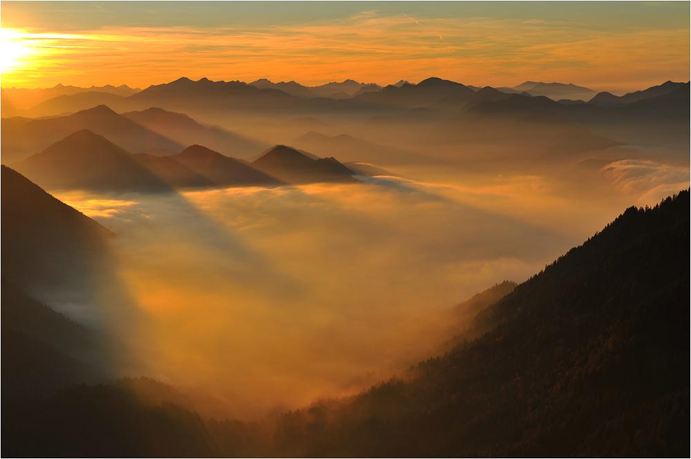 sonnenuntergang mit nebel und - photo #7