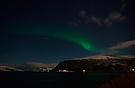 Nordlicht über dem Fjord