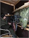 Unsere Ansitzhütte mit der Stativkopfbefestigung