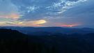 Blick über den abendlichen Schwarzwald
