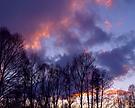 Abendhimmel über dem Spreewald