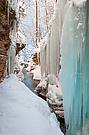 Eisvorhang in der Taugl