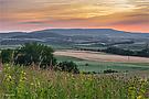 Abendrot in Nordhessen