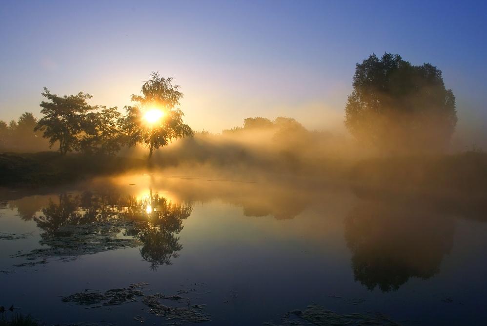 sonnenuntergang mit nebel und - photo #21