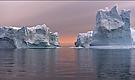 arktische eisberge - nach mitternacht